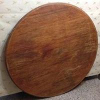 4·4尺檜木超級大圓桌板(二塊板拼)