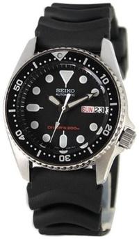 (Seiko Watches) Seiko Men s SKX013K Black Rubber Automatic Watch with Black Dial-SKX013K