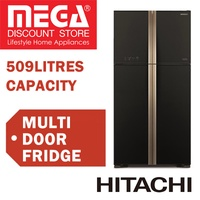 HITACHI R-W635P4MS BIG FRENCH MULTI DOOR FRIDGE 509L / WITH FREE RICE COOKER