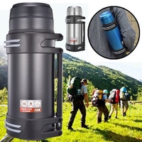 2000/2500ml 304 Stainless Steel Insulation Pot Outdoor Kettle Travel Sports Hiking Camping Riding Water Bottle