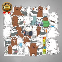 36pcs We Bare Bears Stickers Cartoon Cute Decal For Notebook  Laptop Luggage