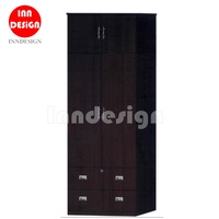 Micky 4 Doors Wardrobe With 2 Drawer/Open Wardrobe