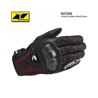 RS Taichi RST390 Waterproof gloves Armed Leather Mesh Gloves Motorcycle full finger Gloves tactical