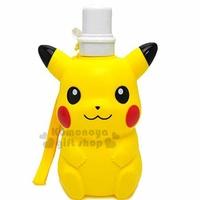 〔小禮堂〕神奇寶貝Pokémon 皮卡丘 造型水壺《黃.坐姿》500ml.附掛繩