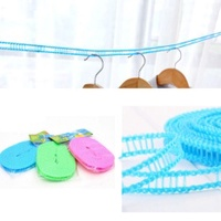 5M/3M Clothes Hanging Rope Fence Shape With Hook and Partition For Hang Outdoor Travel Clothesline Clothes Hanging Rope Slings - intl