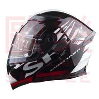【歐樂免運】SBK SV PRIDE 亮黑白 彩繪 /可樂帽/ 全罩式安全帽 /雙D扣/內襯 /流線型外觀 /加贈鏡片