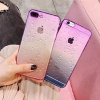 Samsung Galaxy J7 2017 Plus Transparent Gradient color Waterdrop case cover