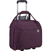DELSEY Paris Delsey Quilted Rolling Underseat Bag For Carry-On Fits Overhead  Under Airline Seat - (