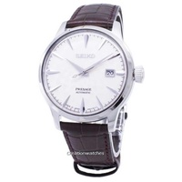 Seiko Presage Cocktail Automatic Japan Made Men's Brown Leather Strap Watch SRPC03J1