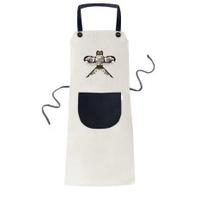 Chinese Culture Traditional Kite Pattern Cooking Kitchen Beige Adjustable Bib Apron Pocket Women Men Chef Gift - intl