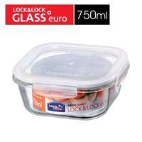 (玫瑰ROSE984019賣場)LOCK樂扣玻璃保鮮盒LLG224(750ml)~耐熱400度.電鍋蒸.烤箱烤