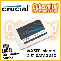 "(SSD PROMOTION) CRUCIAL MX500 250GB / 500GB / 1TB 2.5"" SSD SATA3 Internal (Local Distributor Warranty / Brought to you by Cybermind 20years in Singapore !)"