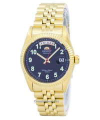 Orient Oyster Automatic Japan Made Men's Gold Tone Stainless Steel Bracelet Watch SEV0J007BH
