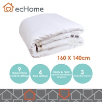 ecHome Washable Nylon Double Partition Temperature Selection Electric Blanket
