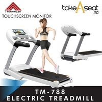 TM-788 FOLDABLE ELECTRIC TREADMILL | JOGGING EXERCISE | HOME GYM | TOUCH SCREEN MONITOR