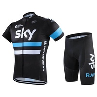Men's Short-sleeved Jersey Suits Breathable Mountain Bike Clothes Spinning Bike Clothing