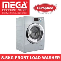 EUROPACE EFW7850S 8.5KG FRONT LOAD WASHER (DELUXE SILVER) / LOCAL WARRANTY