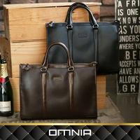 【韓國直送】韓國omnia Two Line男士商務頂級牛皮包 皮夾 手拿包 No.MB5009