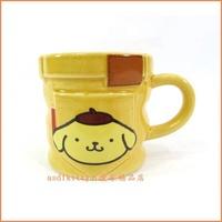 廚房【asdfkitty】布丁狗浮雕陶瓷馬克杯-2001年絕版商品-日本正版