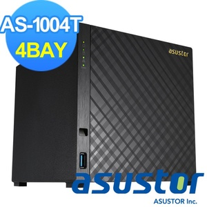 【ASUSTOR華芸】4Bay網路儲存伺服器(AS-1004T)