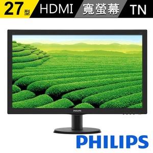 【PHILIPS 飛利浦】27型 16:9寬液晶螢幕(273V5LHSB)