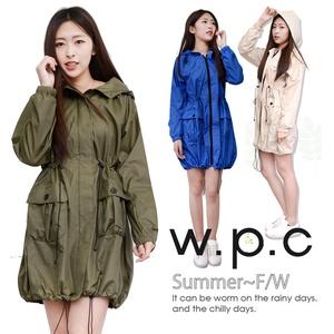 【w.p.c】個性軍裝款。時尚雨衣/風衣R1040