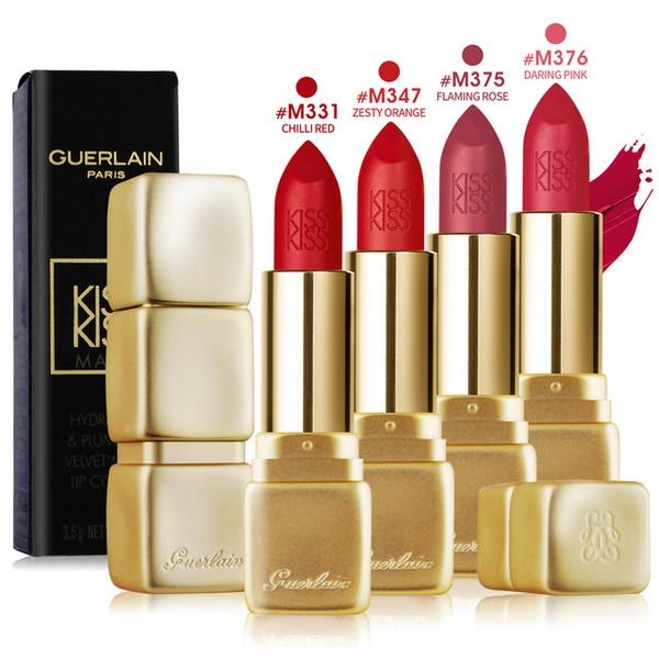 【Guerlain 嬌蘭】KISSKISS 法式之吻華麗絲霧唇膏3.5g