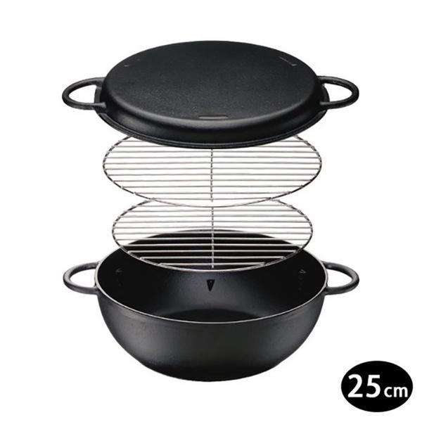【ISHIGAKI】IH對應鐵人鍋/鑄鐵鍋25cm(鑄鐵鍋)