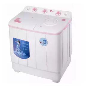 Aigo | เครื่องซักผ้า 2 ถัง ขนาด 8 kg. (สีชมพู)