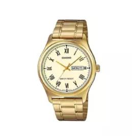 CASIO | นาฬิกาข้อมือ รุ่น MTP-V006G-9BUDF สายสแตนเลสสีทอง