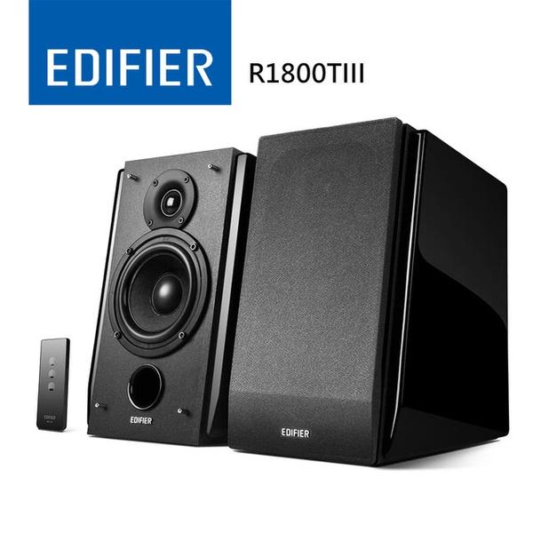 【EDIFIER】2.0聲道 鋼琴烤漆立體聲喇叭 二件式(R1800TIII)