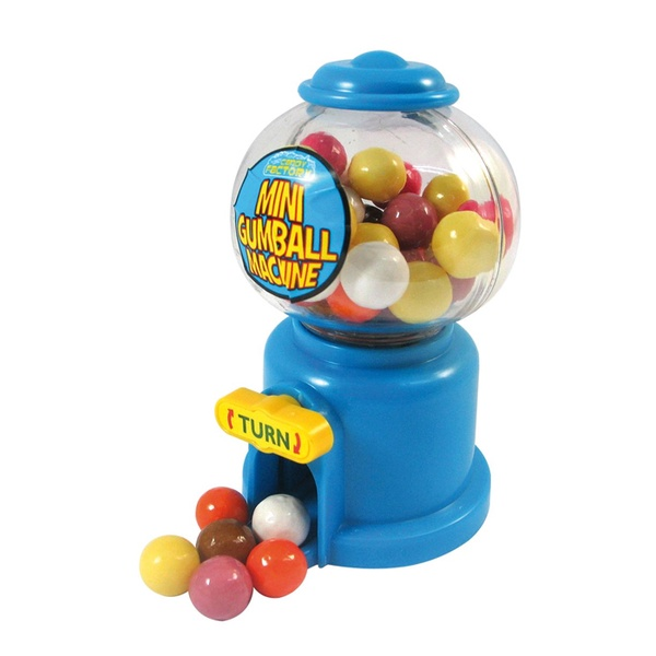 Mini Candy Machine Bubble Gumball Dispenser Coin Bank Kid Toy