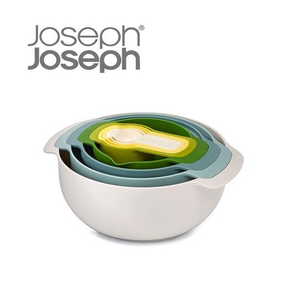 【Joseph Joseph英國創意餐廚】新自然色打蛋盆九件組(40076)