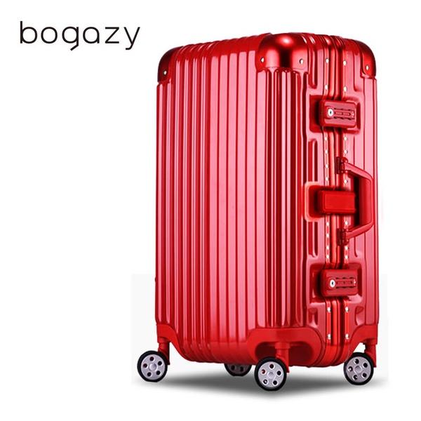 【Bogazy】迷幻森林 29吋PC鏡面鋁框行李箱
