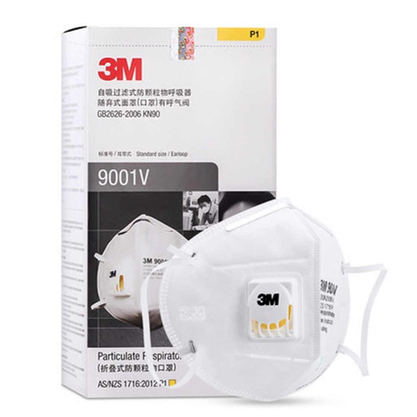 3M 9001V | 3เอ็ม หน้ากากอนามัย ป้องกันฝุ่นแบบมีวาล์ว