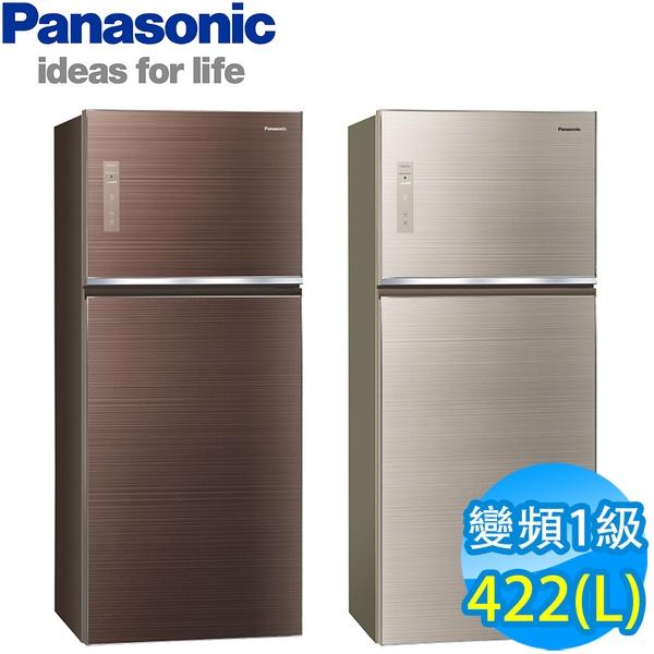 【Panasonic 國際牌】422公升一級能效智慧節能變頻雙門冰箱NR-B429TG(翡翠金)