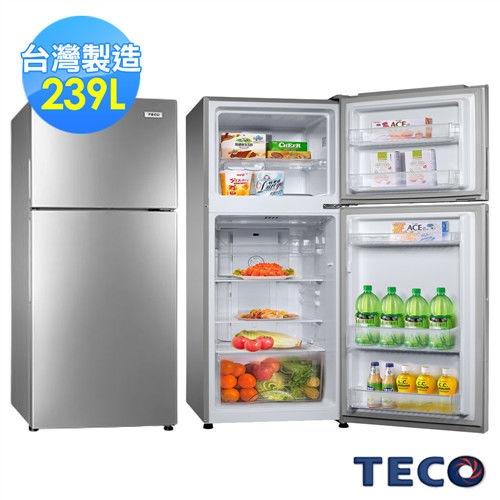 TECO東元 239公升風冷式雙門冰箱 R2551HS