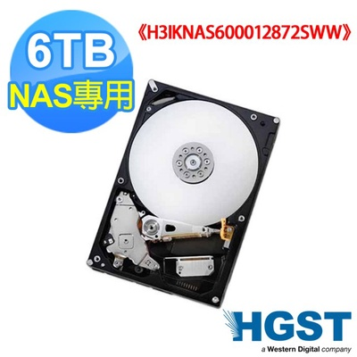 【HGST 昱科】3.5吋 6TB SATA-3 NAS碟(H3IKNAS600012872SWW)