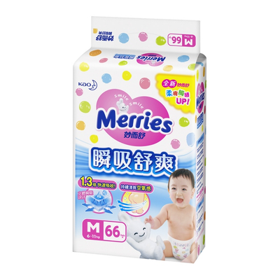 妙而舒 瞬吸舒爽紙尿褲 (M)(66片/包)