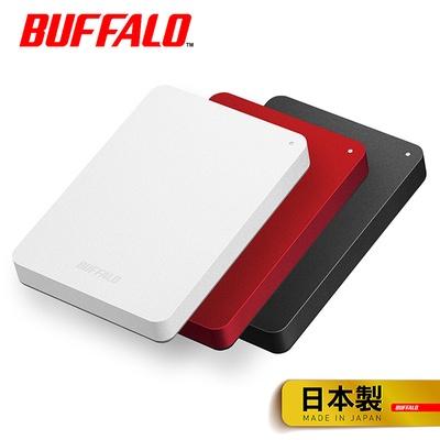 【BUFFALO 巴比祿】2.5吋 防震加密 行動硬碟(HD-PNF)