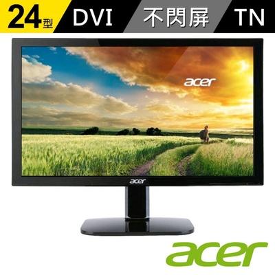 【acer】KA240HQ 24型 Full HD 不閃頻 濾藍光 螢幕