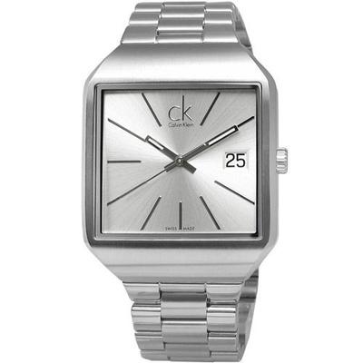 Calvin Klein 凱文克萊 CK極簡方形男腕錶K3L31166