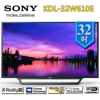 【SONY 索尼】32吋 HD液晶電視(KDL-32W610E)