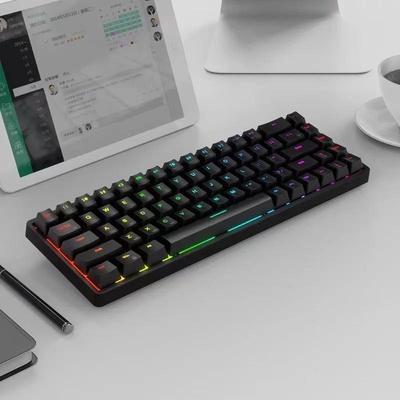 ROYAL KLUDGE | RKG68/RK837 RGB Mechanical Keyboard 68 Keys Bluetooth 2.4G Wired Triple Mode Gaming Keyboard (2021)