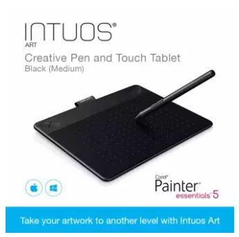 Wacom Intuos Art Creative Pen and Touch Tablet Black