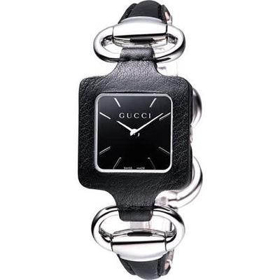 GUCCI 古馳1921 經典時尚名媛手鍊錶(YA130402)-黑