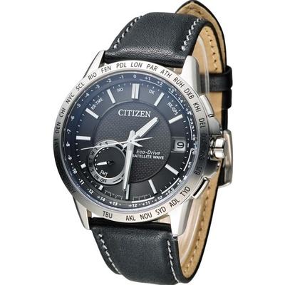 CITIZEN星辰 光動能感光衛星紳士腕錶CC3001-01E