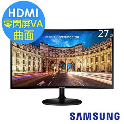 【SAMSUNG】C22F390FHE 22型VA曲面寬螢幕