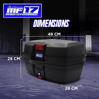 MF17 | 32L UNIVERSAL TOP BOX WITH ALUMINIUM BASE PLATE SPEEDMOTO