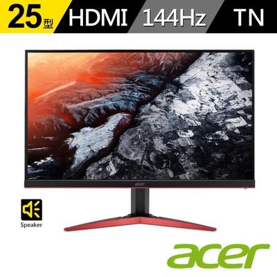 【ACER 宏碁】KG251Q F 25型 144Hz無邊框電競螢幕